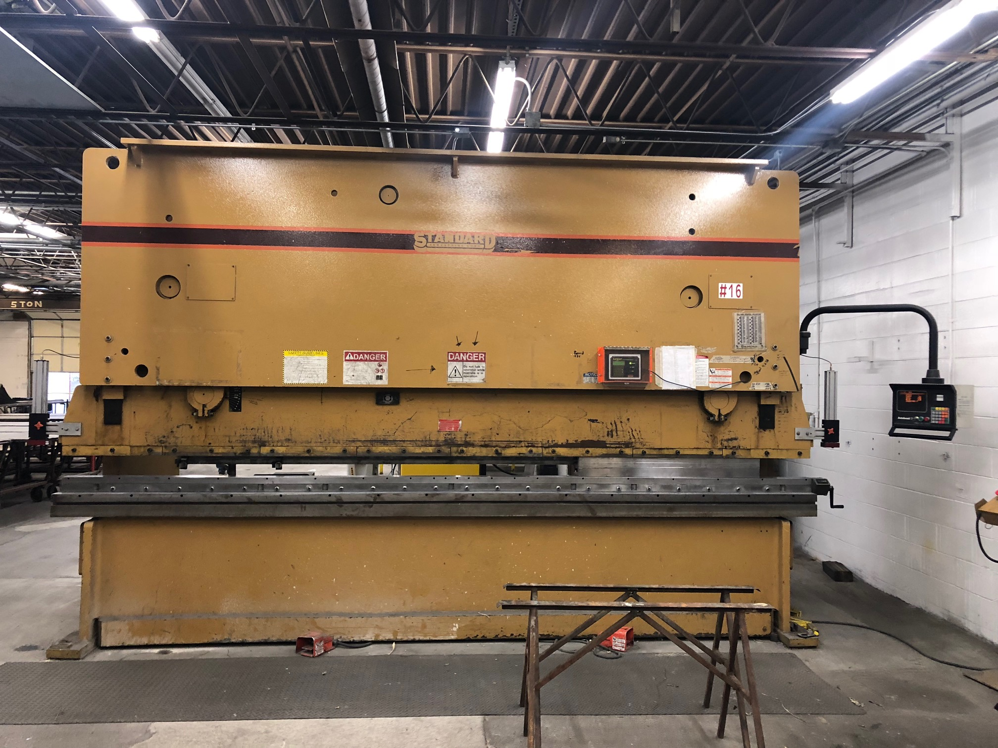 1 - PREOWNED STANDARD PRESS BRAKE, MODEL #: AB200-16, <br>S/N: F2071555