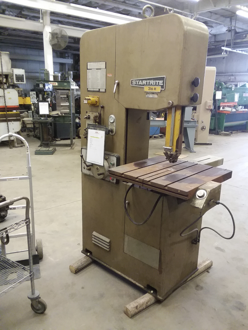 1 - PREOWNED STARTRITE BAND SAW, MODEL 216H, S/N 15484
