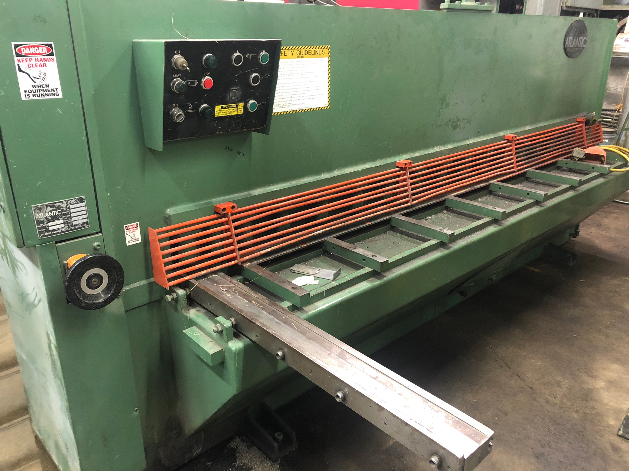 1 - PREOWNED ATLANTIC 10 FT X 1/4 SHEAR, S/N: 65111, <br>YEAR: 1983