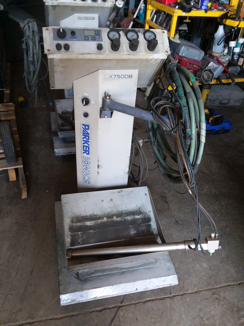 1 - PREOWNED PARKER IONICS MANUAL POWDER COATING BOX <br>FEED UNIT, MODEL #: GX7500B, S/N: 110604, YEAR: 2011