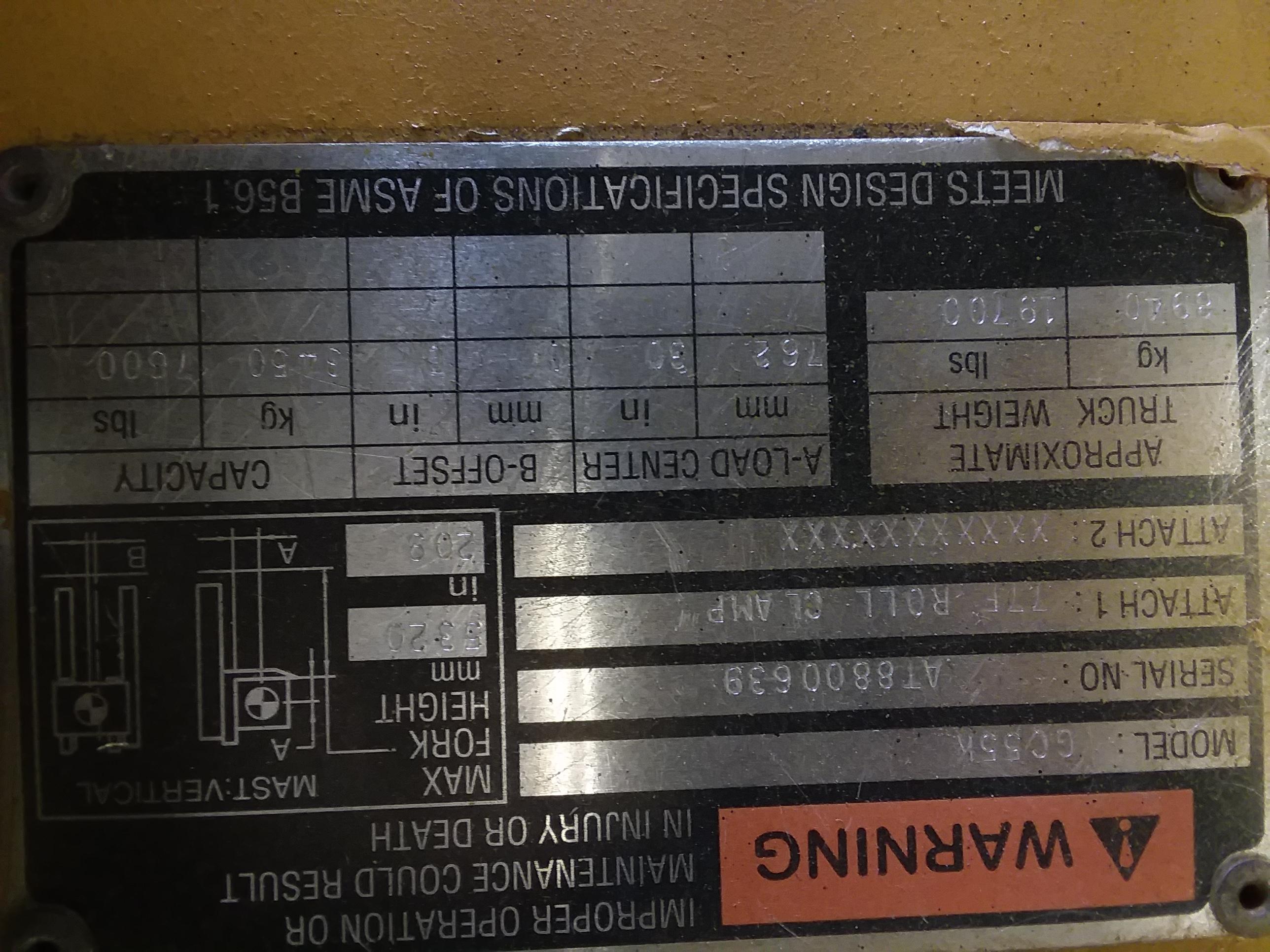 1 - PREOWNED CATERPILLAR 12000 LB LP FORKLIFT