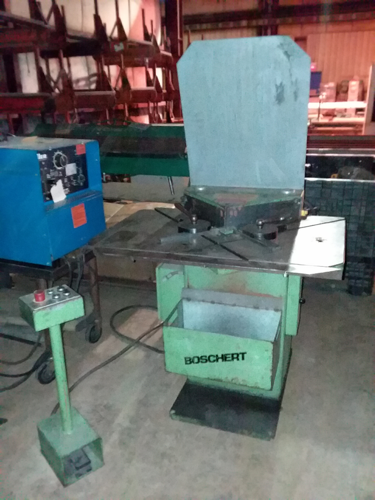 1 - PREOWNED BOSCHERT FIXED ANGLE CORNER NOTCHER, MODEL <br>#: <br>LB12 HYD