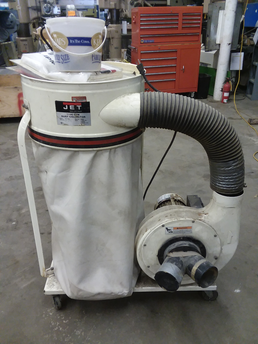 1 - PREOWNED JET DUST COLLECTOR, MODEL #: DC-1100A, <br>S/N: 03013713