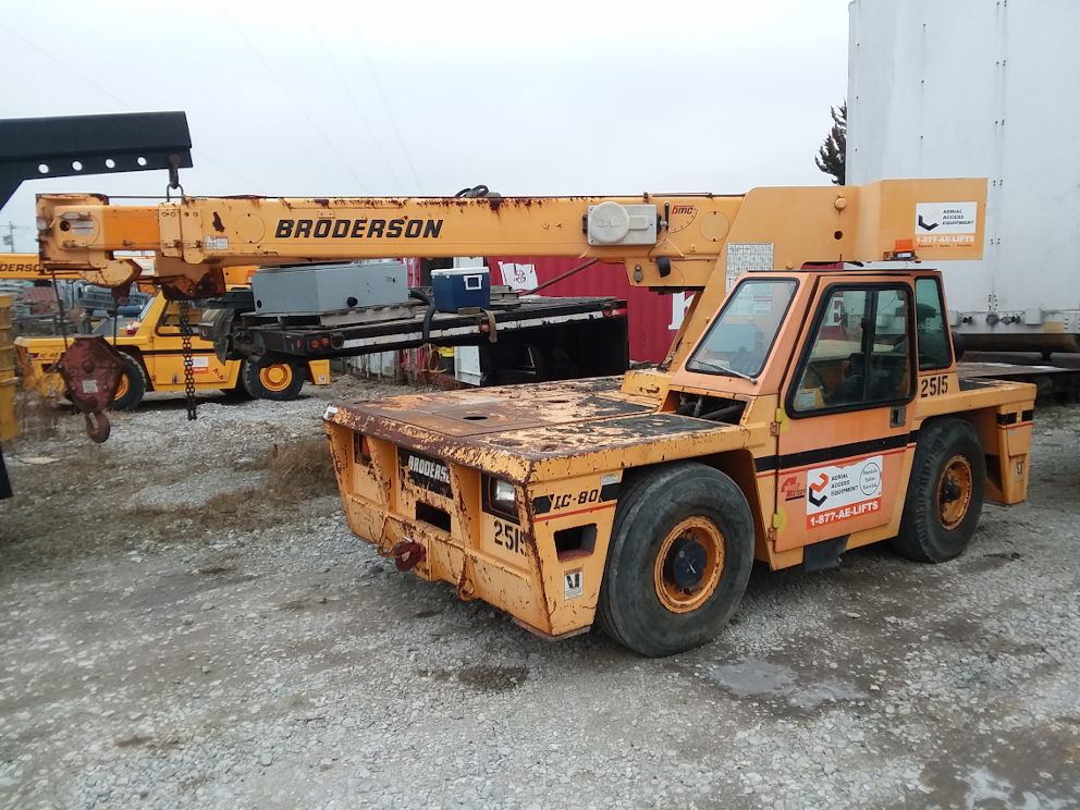1 - PREOWNED BRODERSON CARRY DECK CRANE, MODEL #: IC80-3H, <br>S/N: 612515, YEAR: 2009