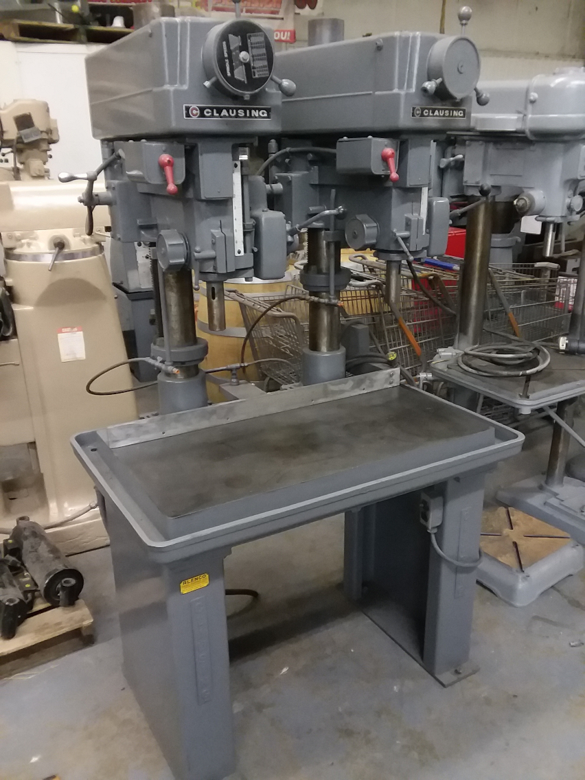 1 - PREOWNED CLAUSING 2 SPINDLE 20 in  DRILL PRESS, <br>MODEL #: 2287, S/N: 514532/514533