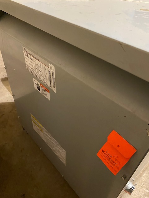 1 - PREOWNED 75-KVA GE TRANSFORMERS, MODEL #: K-FACTOR,<br>S/N: 9T23Q3474G03