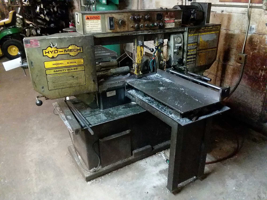 1 - PREOWNED HYD-MECH AUTOMATIC HORIZONTAL MITER <br>BANDSAW, MODEL #: S-20A SERIES I, S/N: 10690447