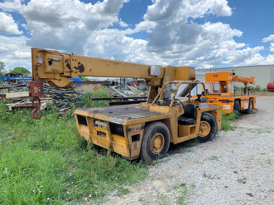 1 - PREOWNED BRODERSON CARRY DECK CRANE, MODEL #: IC-80-3G,<br>S/N: 558764, YEAR: 2006