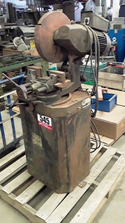 1 - PREOWNED SCOTCHMAN BEWO COLD SAW, MODEL #: CPO-350LT (LOW TURN), S/N: 19620492