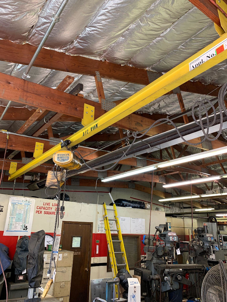 1 - PREOWNED ABELL-HOWE 1/2 TON MONORAIL BEAM AND HOIST, <br>BEAM LENGTH 20 ft