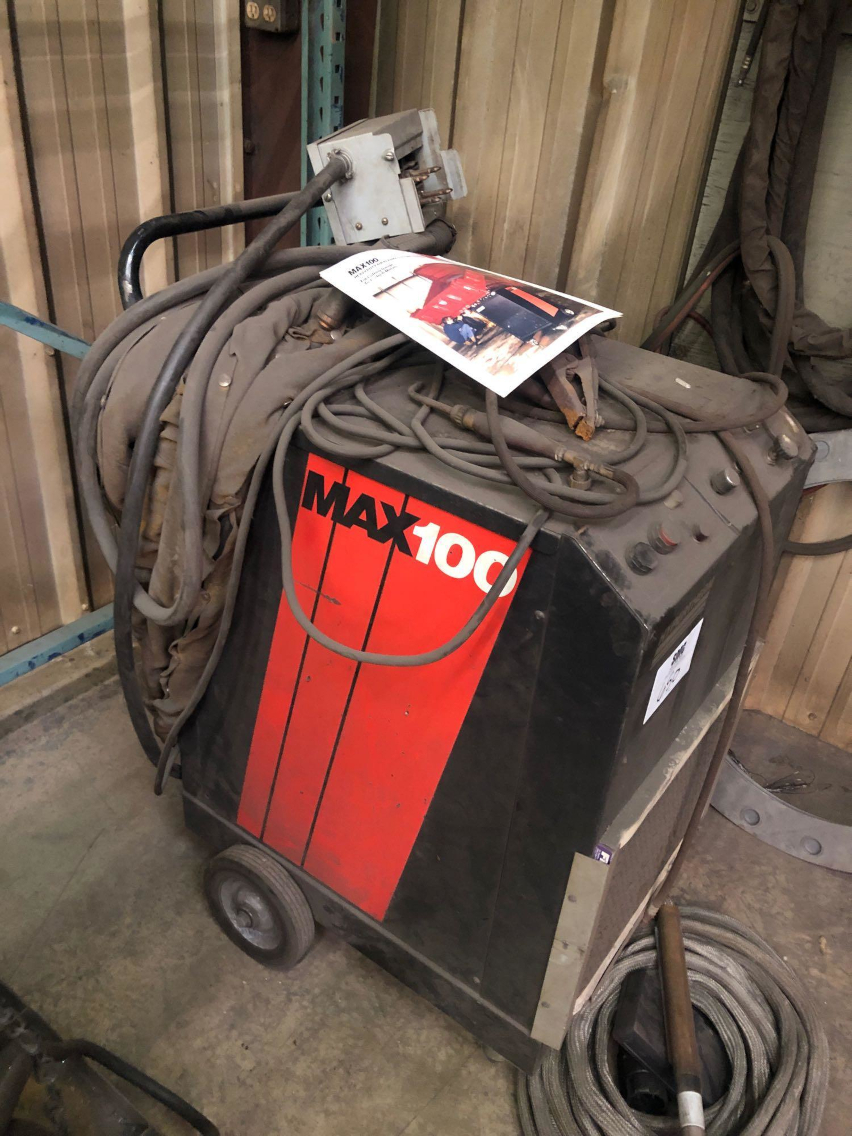1 - PREOWNED HYPERTHERMIA HEAVY DUTY AIR PLASMA CUTTING <br>SYSTEM, MODEL #: MAX 100