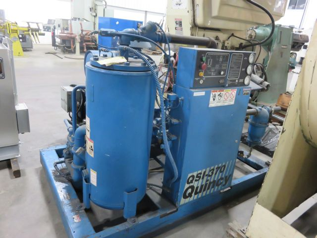 QUINCY 75 HP  ROTARY SCREW  AIR COMPRESSOR, STOCK# 11797T