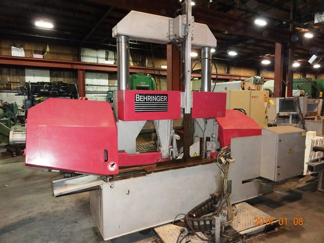 "BEHRINGER 20"" X 20"" AUTO HORIZONTAL BAND SAW, S/N 605356, STOCK# 13226J"