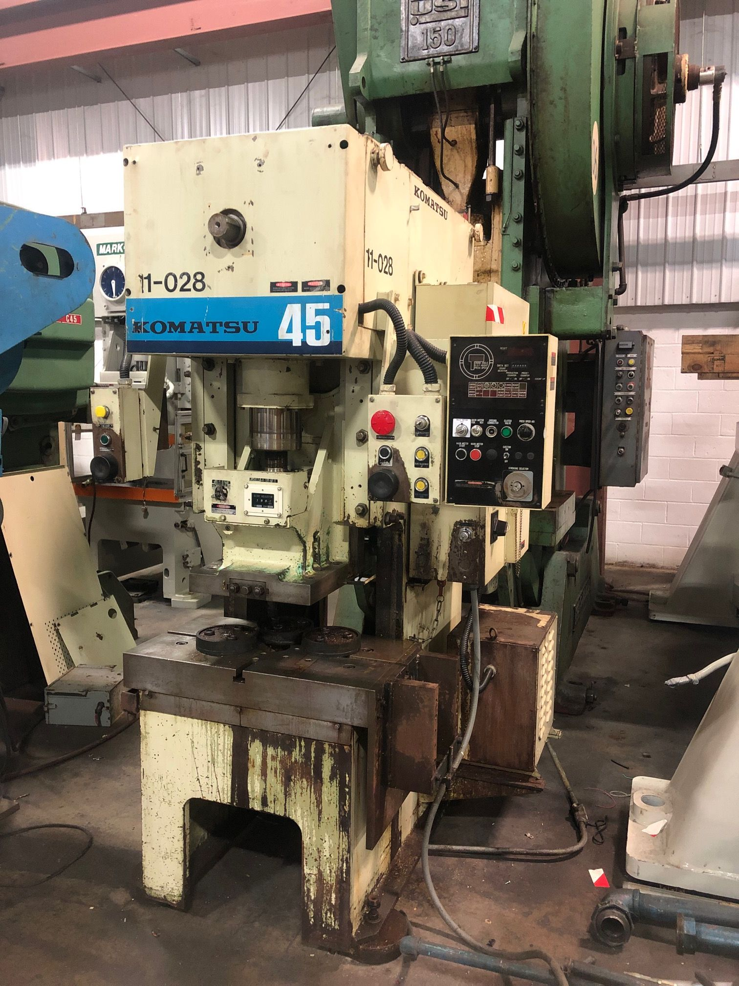KOMATSU 45 TON SINGLE POINT GAP FRAME PRESS, STOCK# 13840J