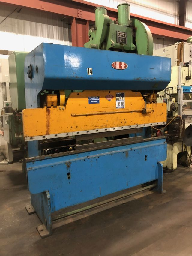 CHICAGO DRIES & KRUMP 35 TON x 8'  MECH PRESS BRAKE, STOCK# 13851J