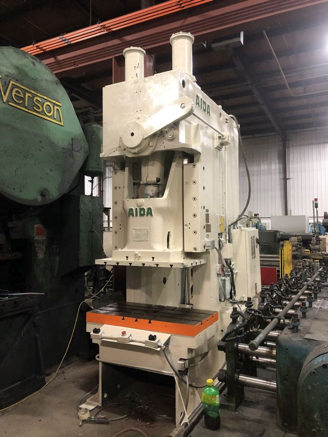 AIDA 165 TON OBI PUNCH PRESS, STOCK# 13928T
