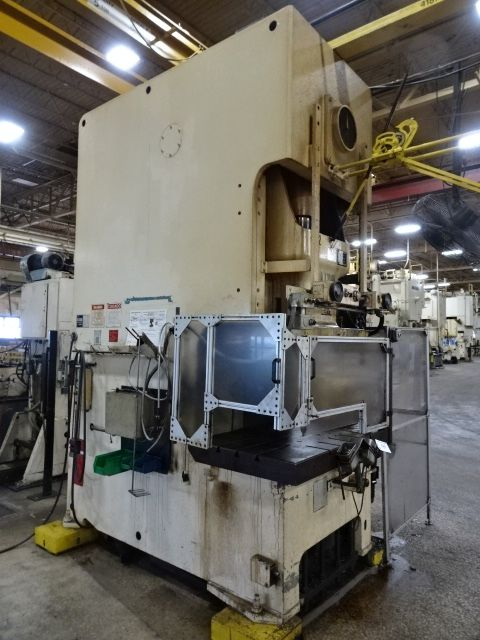 AIDA 220 TON SINGLE POINT GAP FRAME PRESS, STOCK# 13955J