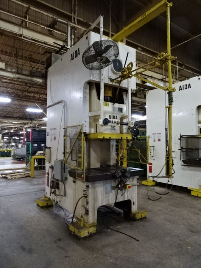 AIDA 220 TON SINGLE POINT GAP FRAME PRESS, STOCK# 13943J
