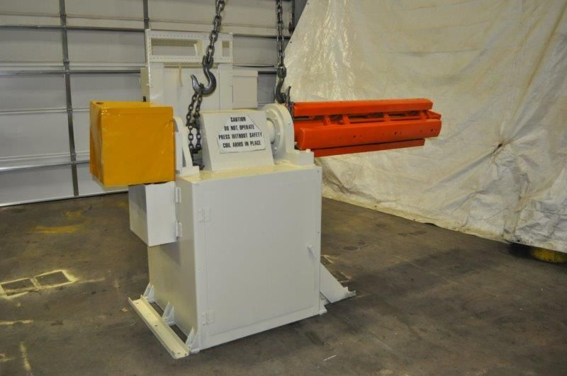 "ROWE 10,000 LB X 50"" MOTORIZED UNCOILER, STOCK# 13986J"
