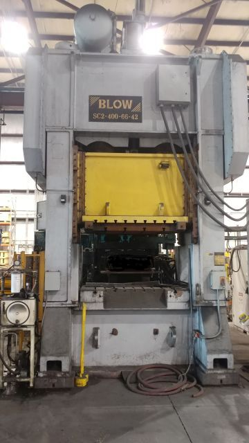 BLOW 400 TON SSDC PRESS, STOCK# 14014J