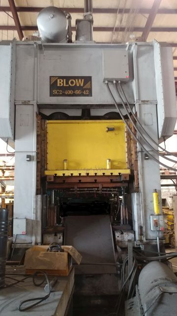 BLOW 400 TON SSDC PRESS, STOCK# 14013J
