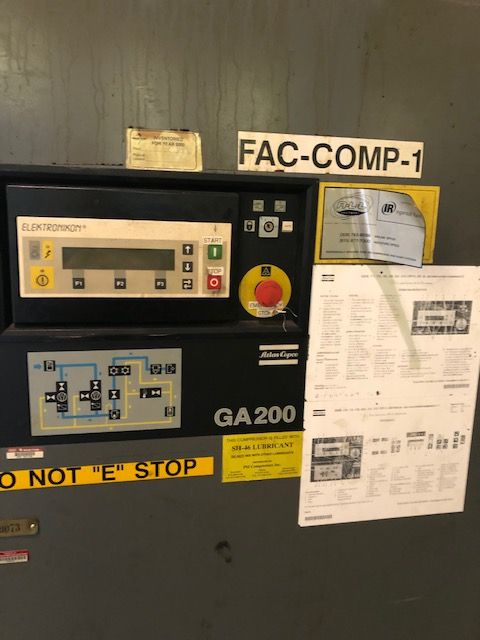 ATLAS 250 HP COPCO AIR COMPRESSOR, STOCK# 13950J