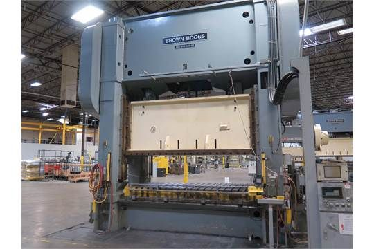 BROWN & BOGGS 600 TON STRAIGHT SIDE 2-POINT PRESS, STOCK# 14036J