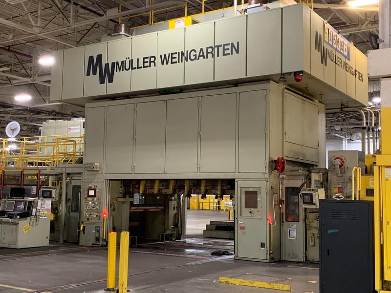 1500 Ton Mueller Weingarten Progressive Press