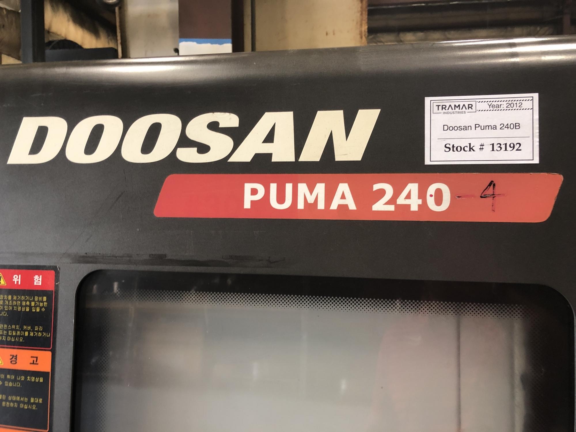 2012 Doosan Puma 240B - CNC Horizontal Lathe