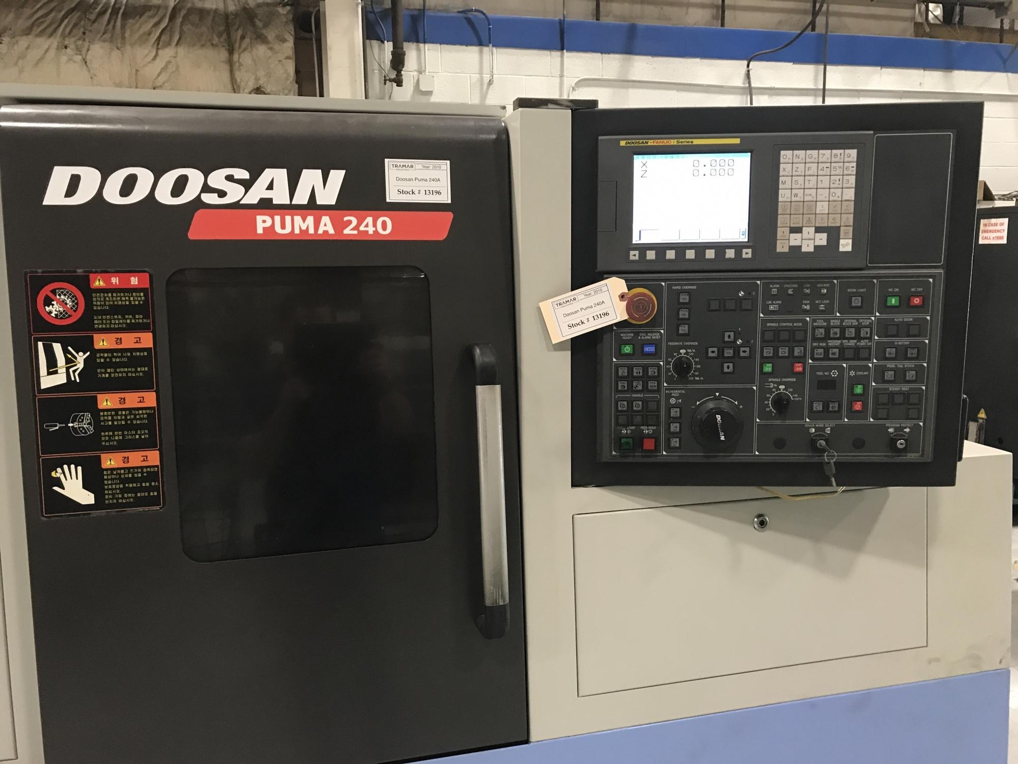 2010 Doosan Puma 240A - CNC Horizontal Lathe