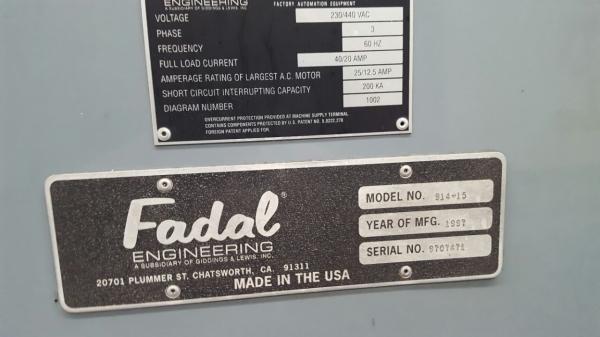 1997 FADAL VMC-15 XT - Vertical Machining Center