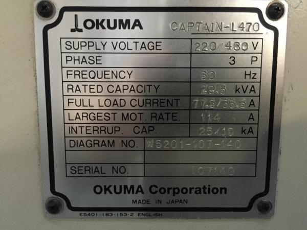 2004 OKUMA Captain L-470BBM/1250