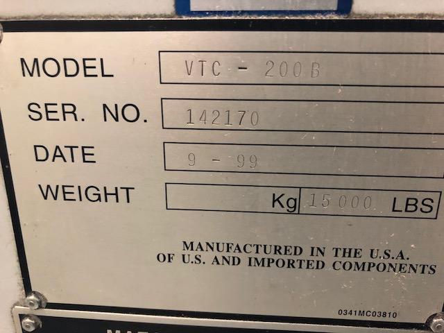 1999 MAZAK VTC-200B - Vertical Machining Center