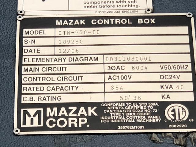 2006 MAZAK QTN-250II