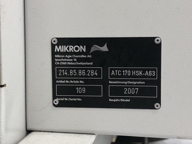 2007 MIKRON HSM 600u PROMOD - Vertical Machining Center