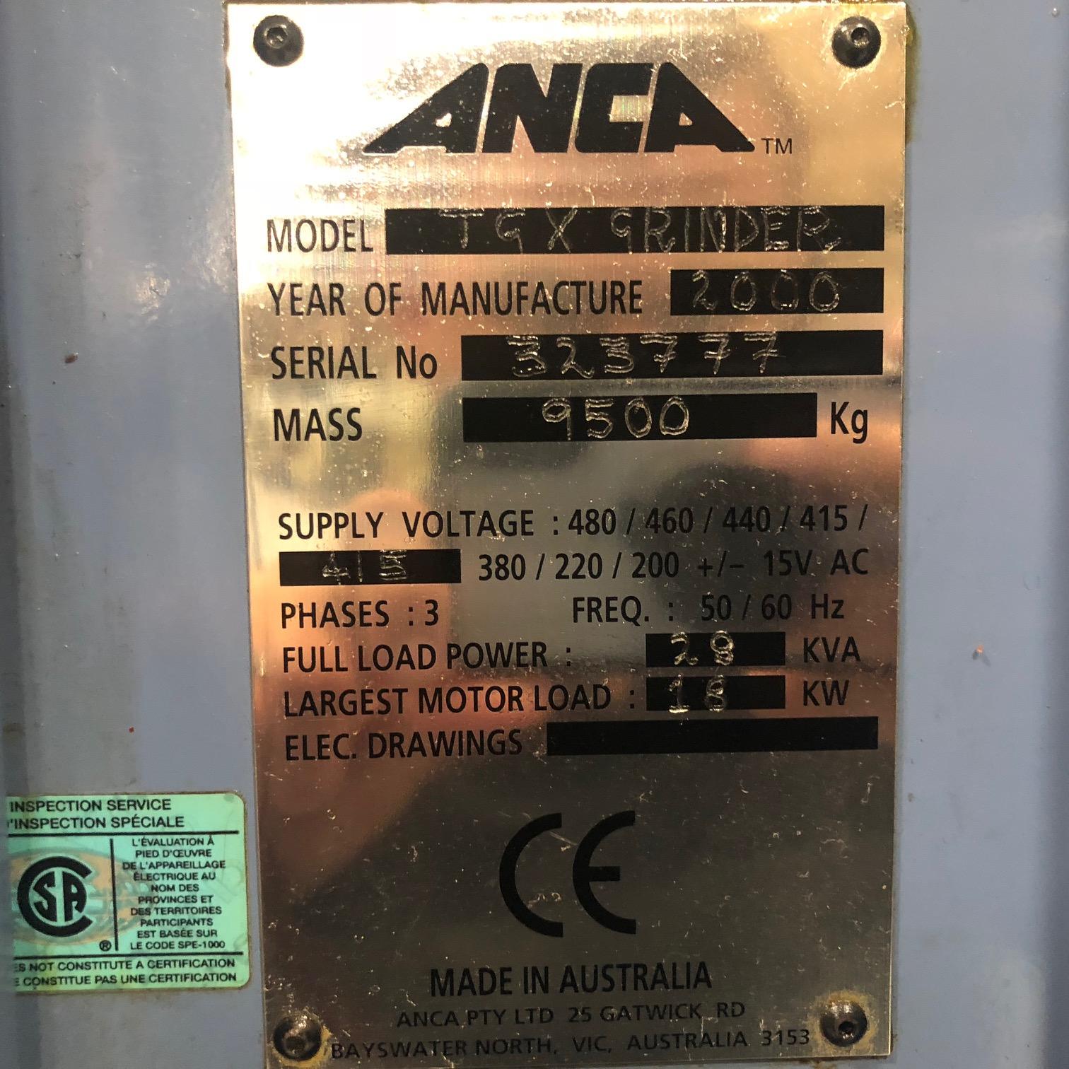 2000 ANCA TGX - CNC Tool & Cutter Grinder