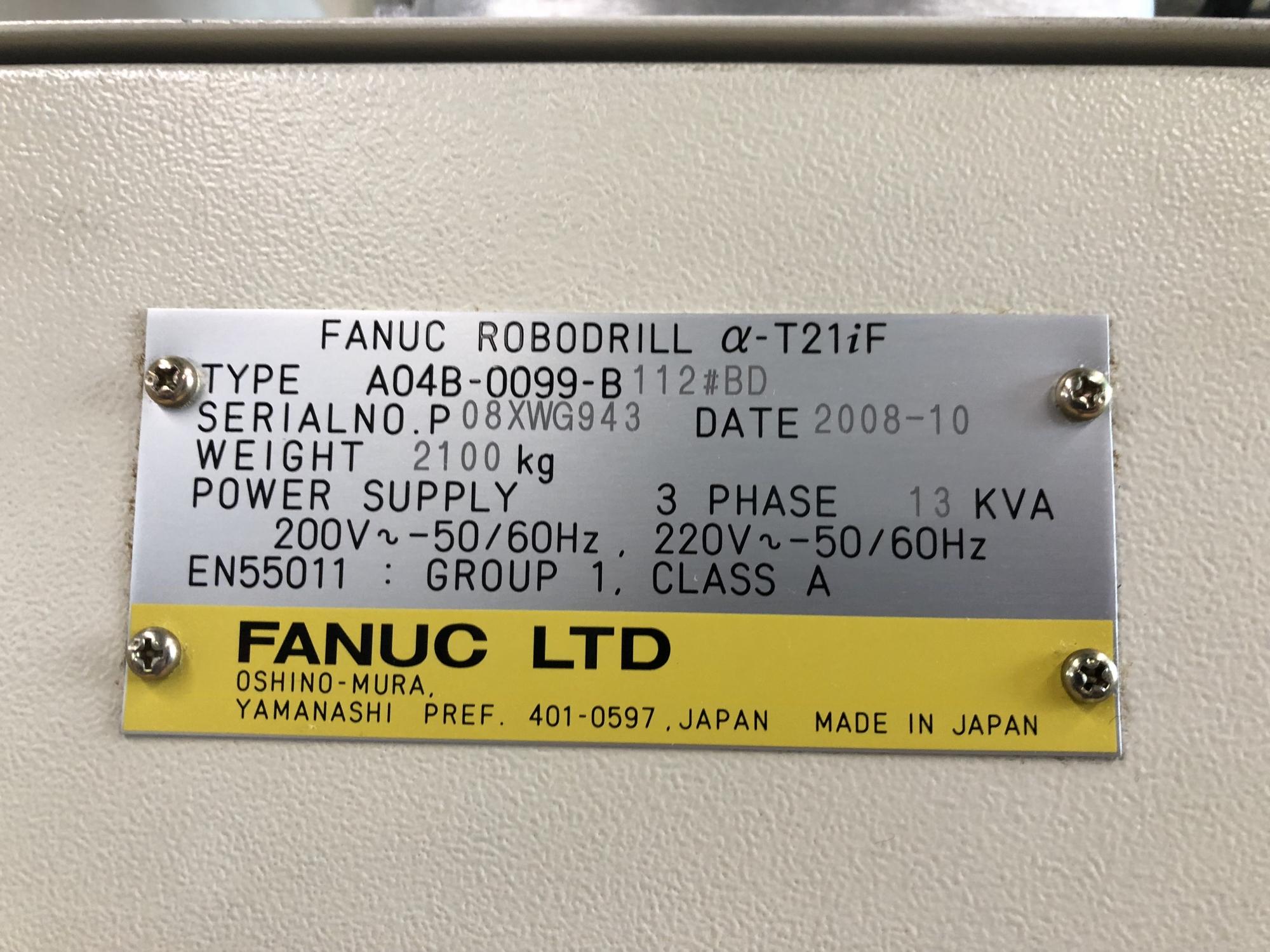 2008 FANUC Robodrill a-T21iF - 5 Axis - Vertical Machining Center