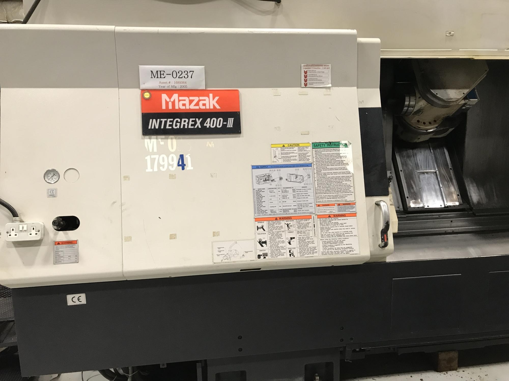 2005 MAZAK Integrex 400-III