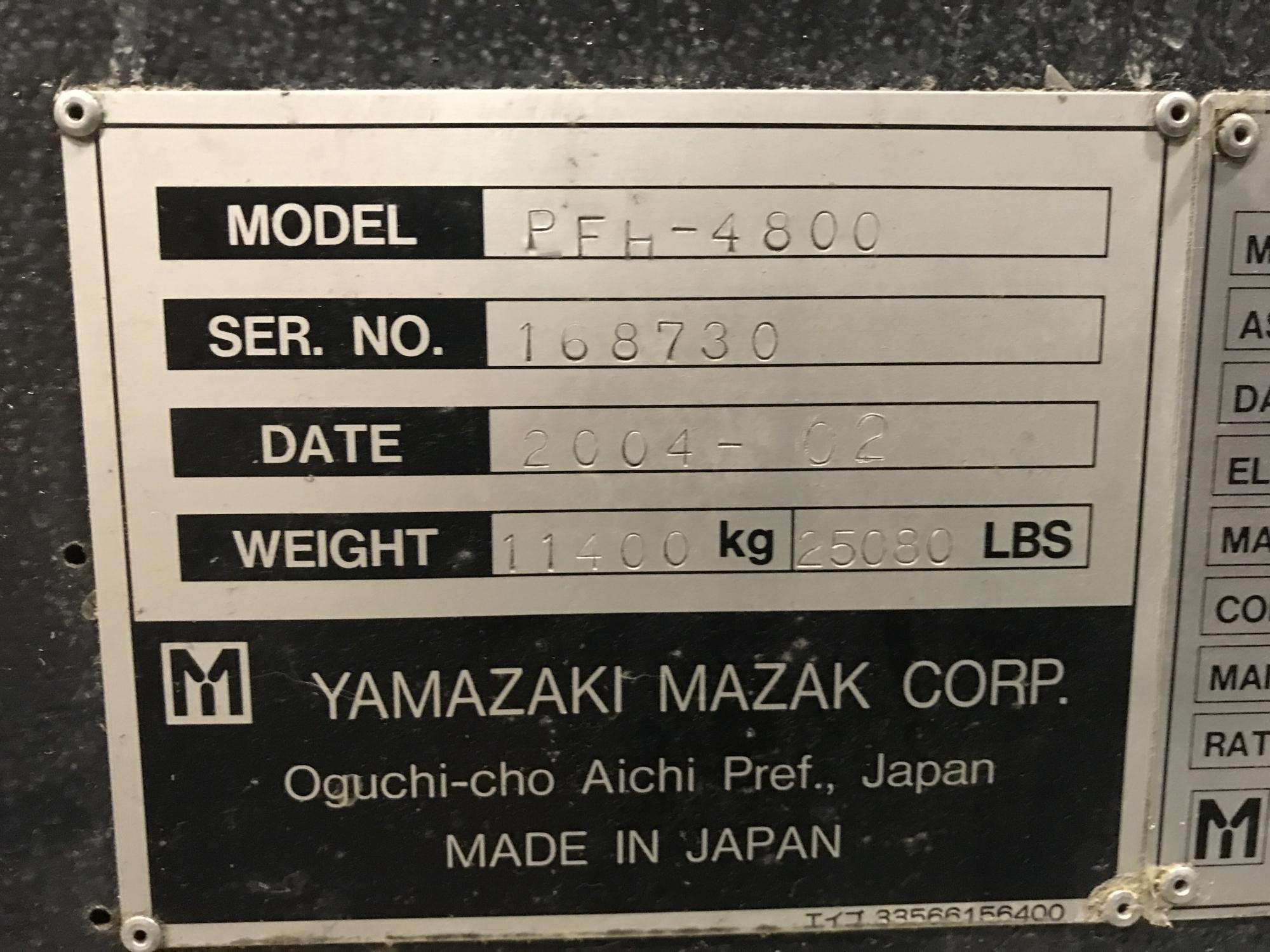 2004 MAZAK PFH-4800 - Horizontal Machining Center