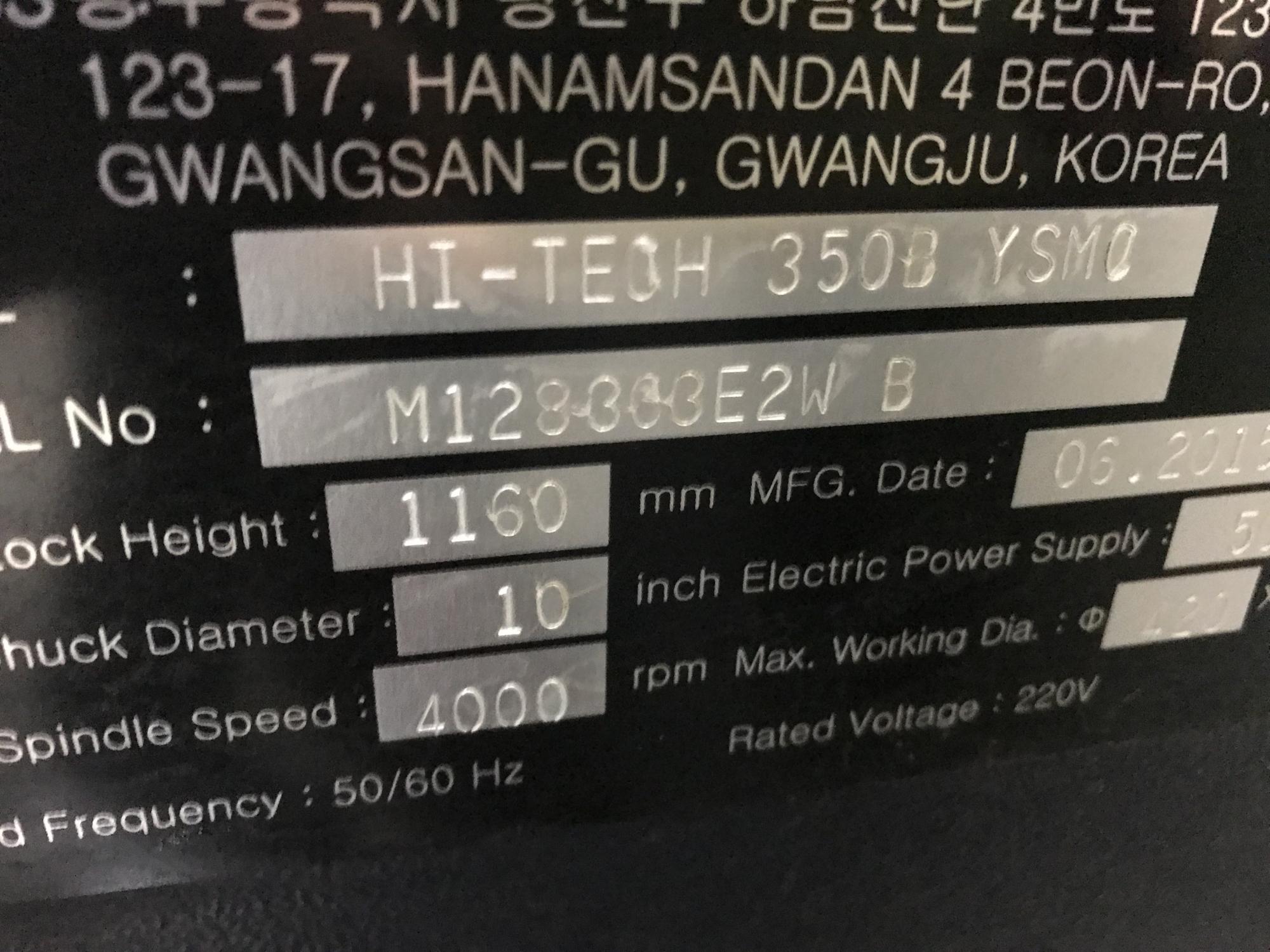 2015 HWACHEON Hi-Tech 350BYSMC