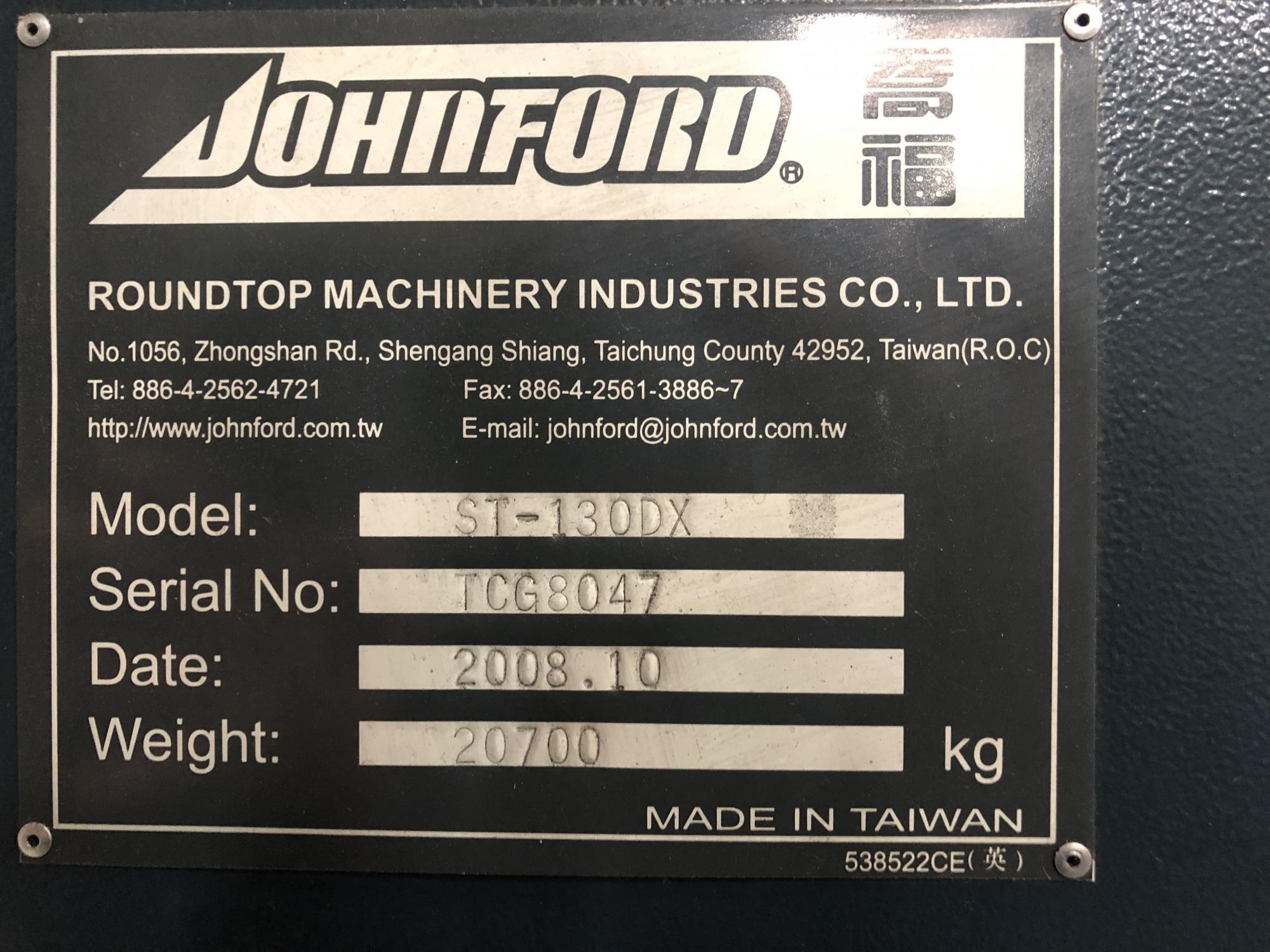 2008 JOHNFORD ST-130DX
