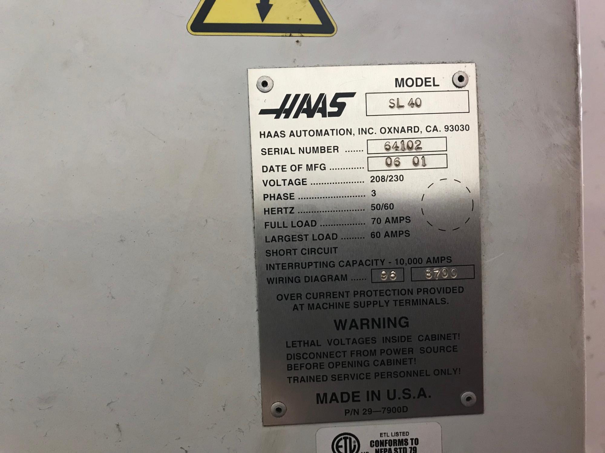 2001 HAAS SL-40