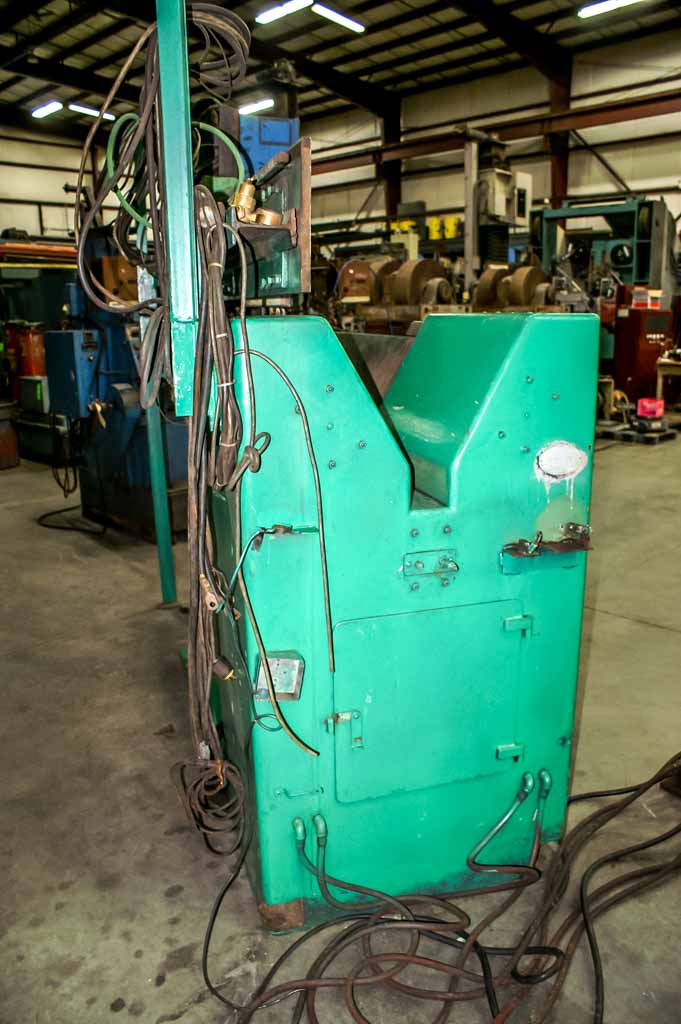 "AMECO, 72"" WELDING LENGTH, 10-40"" DIAMETER, LINDE OM-48 RACK AND PINION DRIVE CARRIAGE, MILLER DELTAWELD 451 WITH AUTOMATIC 1A AND 4-ROLL WIRE FEED HEAD"