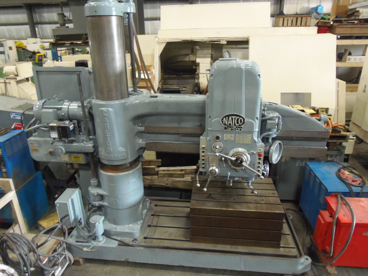 "6' X 15"" CARLTON, MODEL 3A, NEW 1999, POWER MOVEMENTS, POWER CLAMPING, 1500 RPM, THREADING, BOX TABLE"