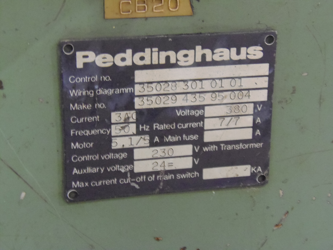 PEDDINGHAUS PERFECKT 32 CAB CNC BENDER