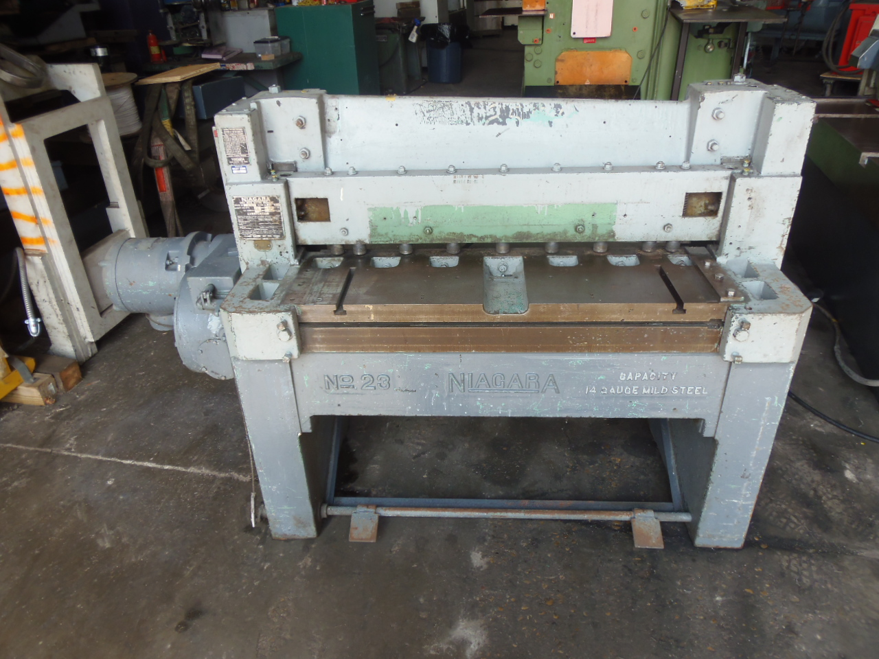 "14 GA X 36"", NIAGARA MODEL 23 MECHANICAL SHEAR, 24"" ROBG, FRONT SUPPORT ARM"