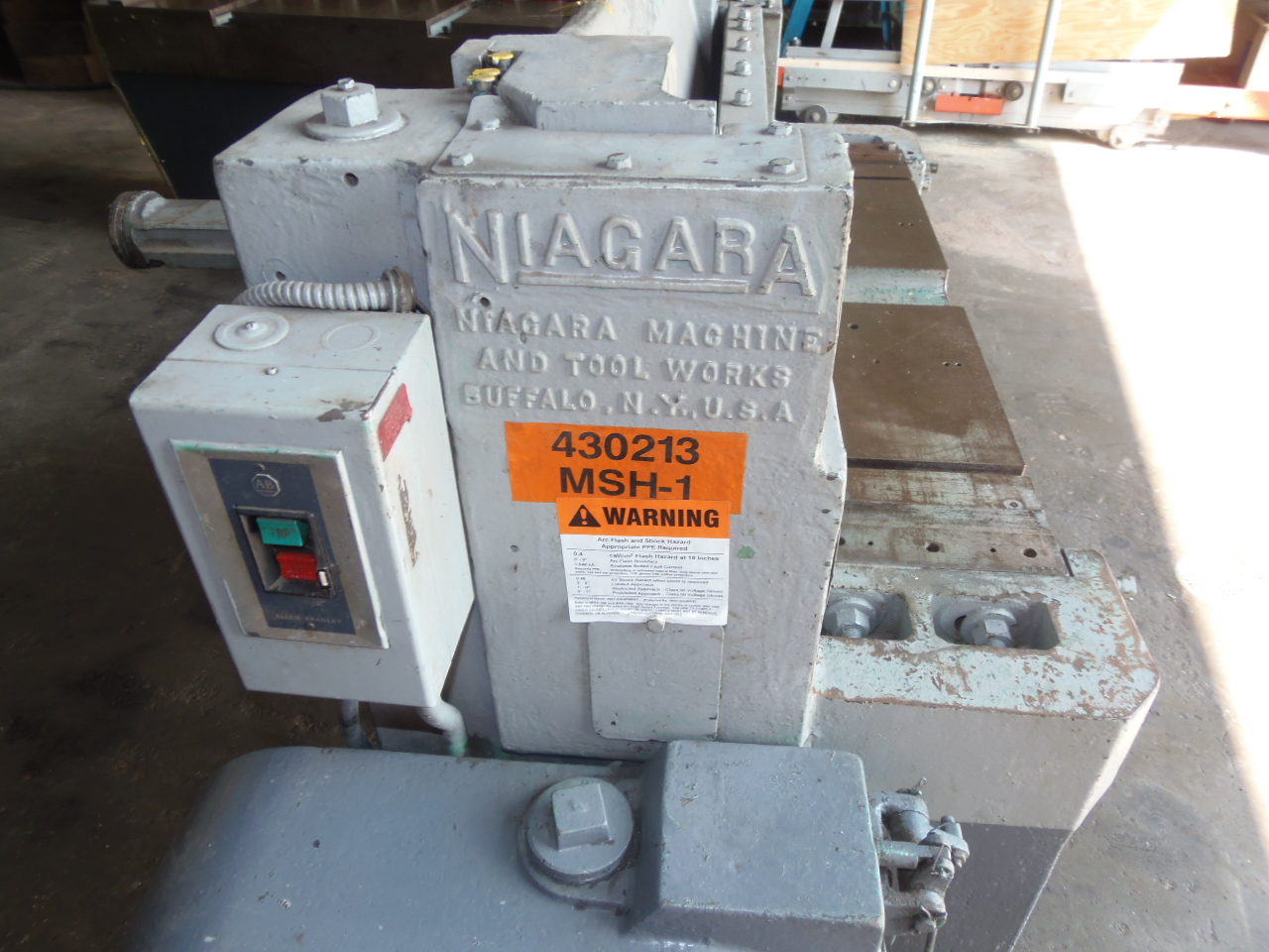 "14 GA X 36"", NIAGARA MODEL 23 MECHANICAL SHEAR, 24"" ROBG, FRONT SUPPORT ARM"