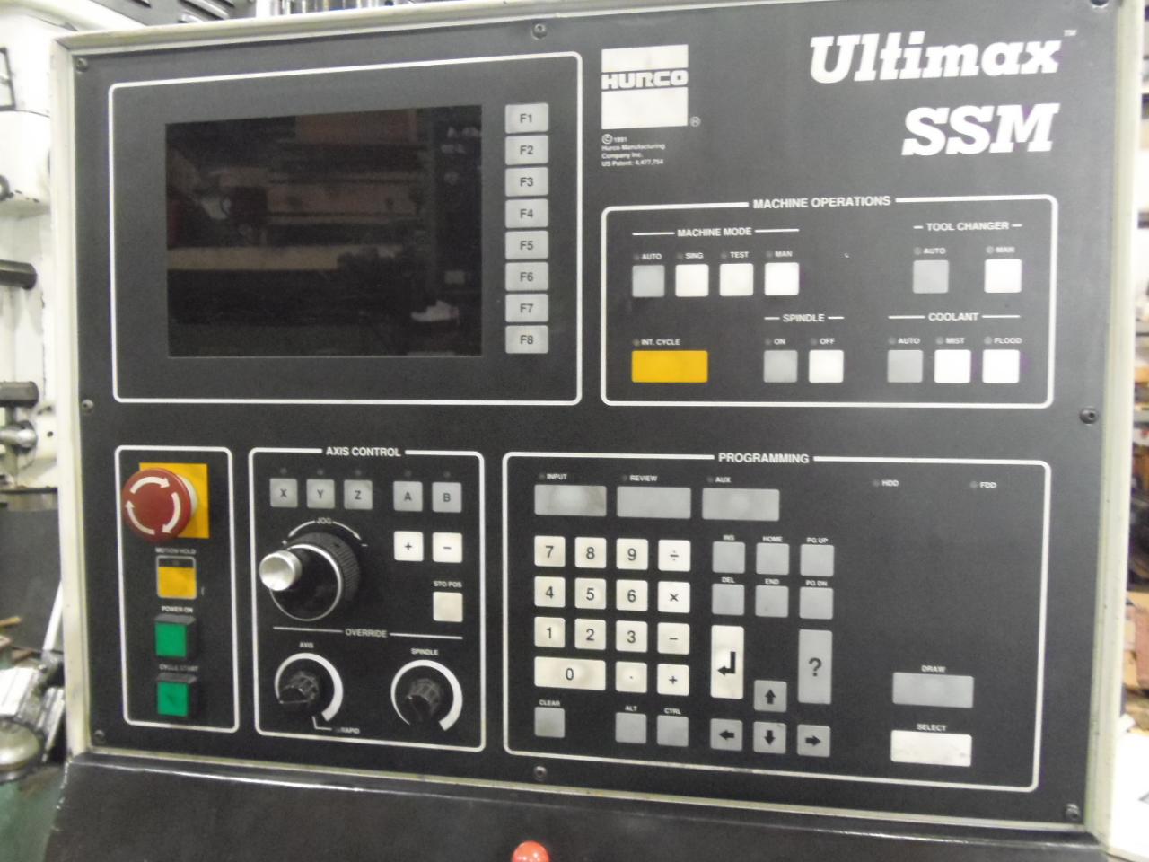 HURCO 30 SSM, CONVERSATIONAL CONTROL, 35 X 18 X 20 TRAVELS, 1999, BED TYPE,