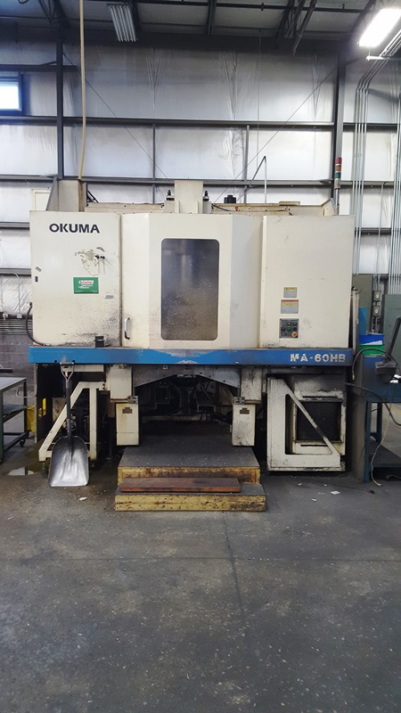 "OKUMA MA60HB, 25"" DUAL PALLETS, OSP-U100M CONTROL, THRU SPINDLE HIGH PRESSURE COOLANT, 4TH AXIS,"