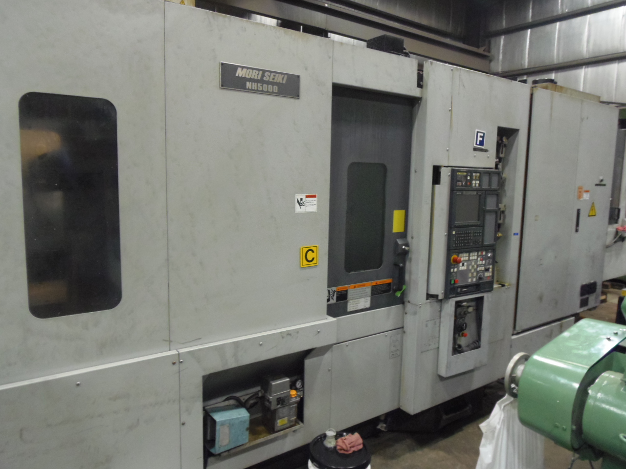 NH5000/40 MORI SEIKI, WITH COOLANT SYSTEM, 2003, THRU SPINDLE COOLANT, 1 DEGREE, MSC501 WITH MAPPS, 60 ATC, 40 TAPER, 2 PALLET, 14,000 RPM